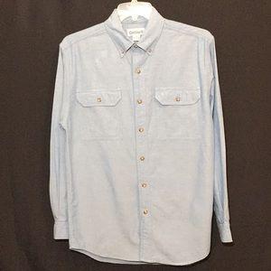 Mens Carhartt Shirt Blue Chambray Sz Medium